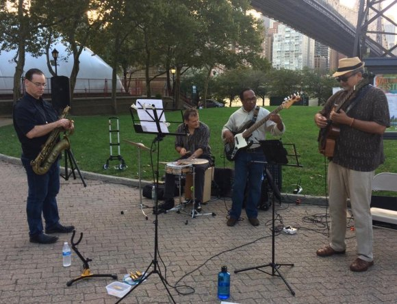 The Roosevelt Island Jazz Collective played on.