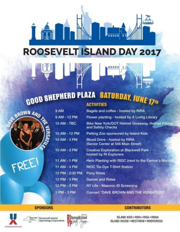 June 16th, Roosevelt Island Day, 2018...