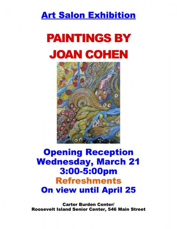 Ongoing, Paintings by Joan Cohen, CBN/RI Senior Center
