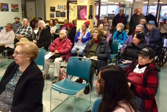 Packed House for the 2018 Annual General Meeting at the Roosevelt Island Senior Center
