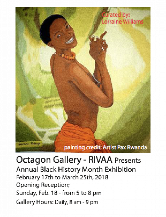 "Last Chance, This Weekend, ""Hidden Talents""  Black History Month Exhibit at the Octagon Gallery"