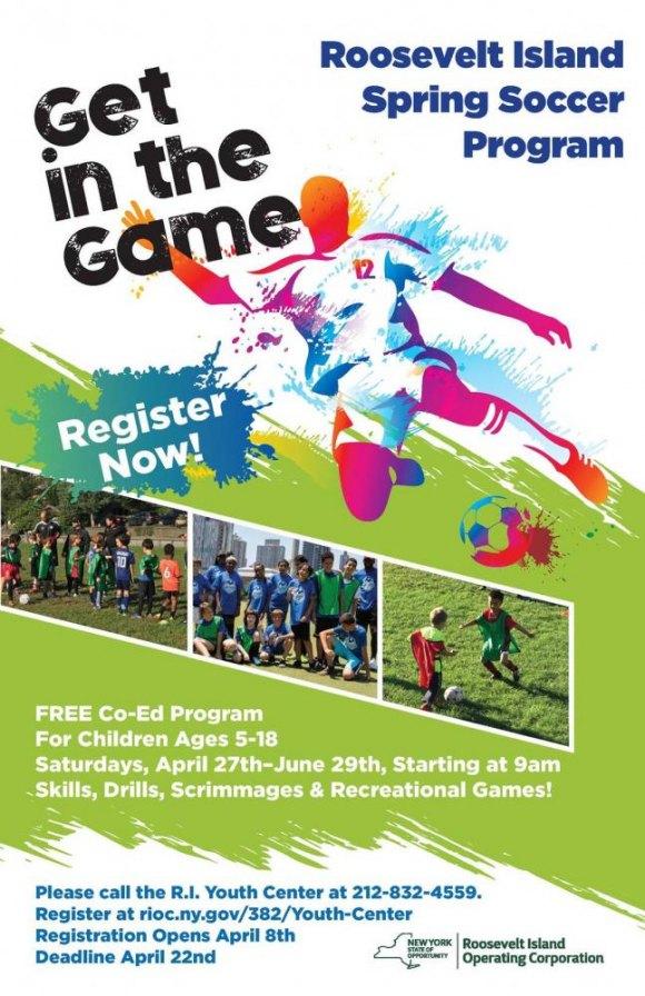 RIOC Youth Center Spring Soccer Registration Opens