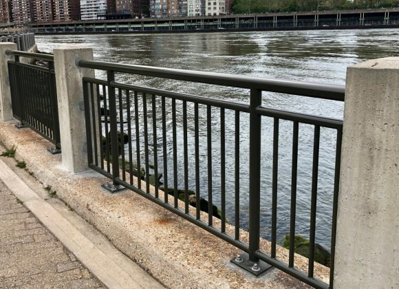 New seawall railings, long overdue, protect visitors through nearly all of the park.