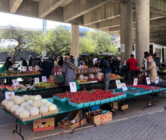 The Roosevelt Island Farmers Market will be open today but moved back to Good Shepherd Plaza.