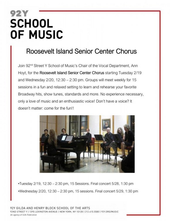 92nd Street Y's Gift of Music for Roosevelt Island