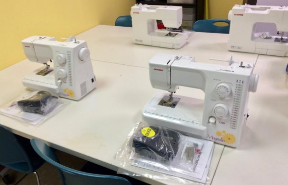 New Sewing Machines, thanks to L.S. Power, at the CBN/RI Senior Center Sewing Studio