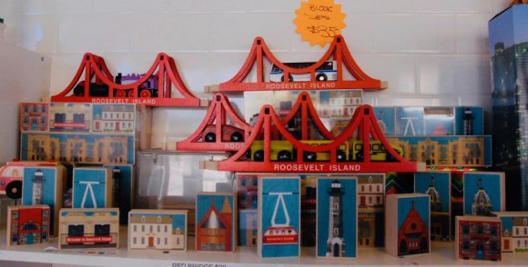 For kids and adults, well-crafted items that celebrate Roosevelt Island's East River crossings and more.