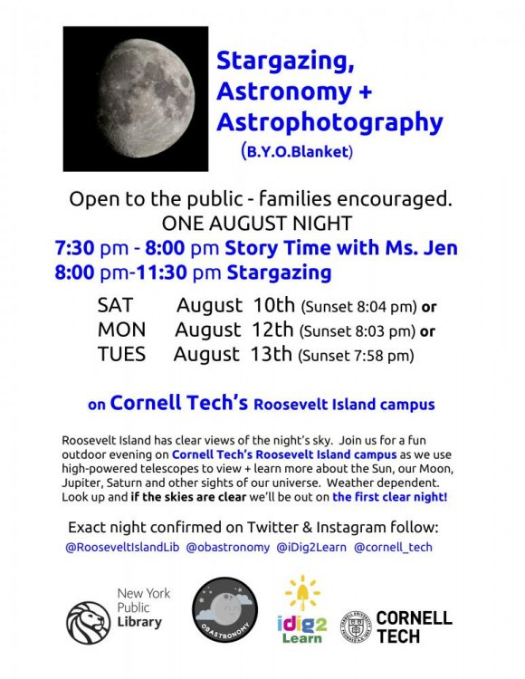 August 10th: Stargazing, Astronomy, & Astrophotography