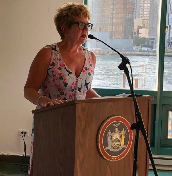 RIOC President/CEO Susan Rosenthal delivered warm memories and a proclamation from Governor Andrew Cuomo.