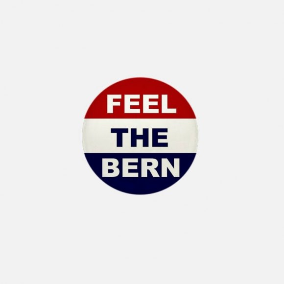 Feel the Bern buttons available on Cafe Press.