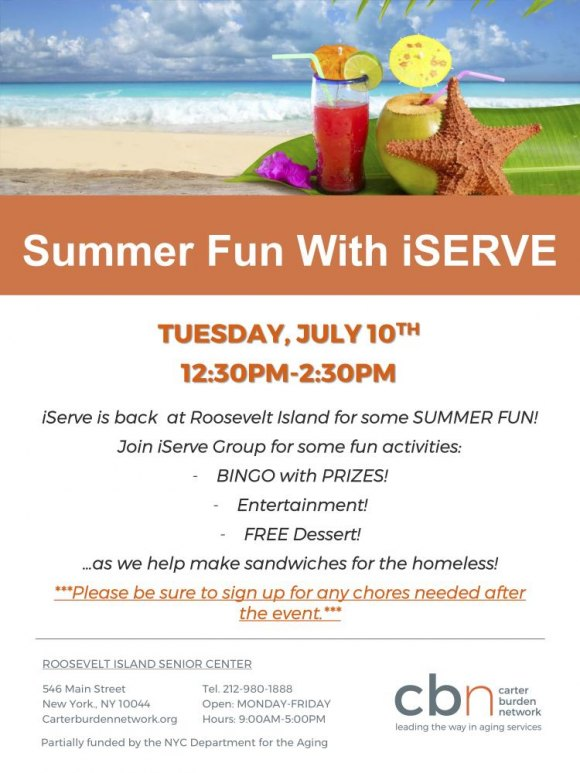 July 10th, CBN/RI Senior Center, Fun With iServe