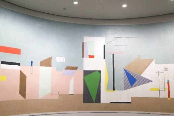 WPA Murals preserved from Goldwater Hospital, now at Cornell Tech