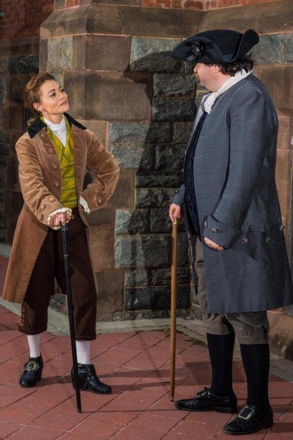 Kimbirdlee Fadner as John Adams in 1776