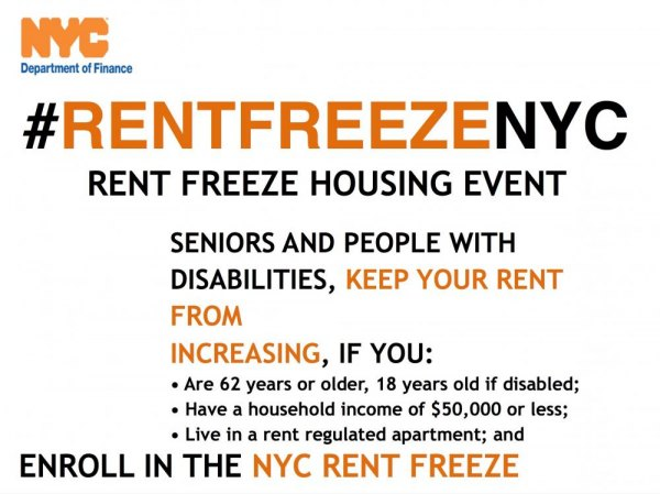 NYC Rent Freeze - Are You Eligible?