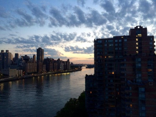 East River at Sunrise from Roosevelt Island