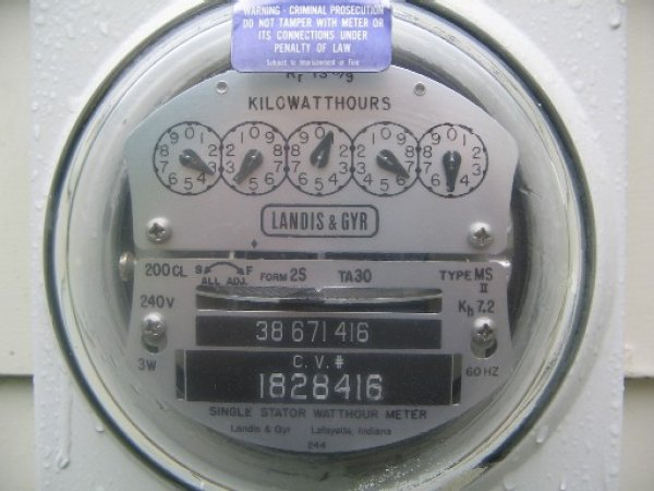 Electric Meter Counting Kilowatt Hours