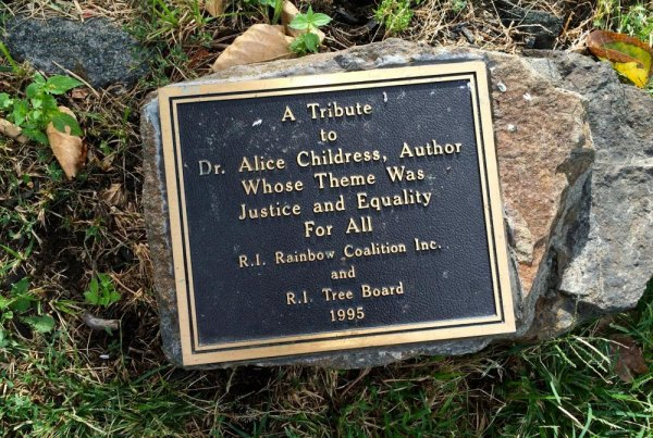 Alice Childress Plaque Beside the Missing Magnolia, East Promenade