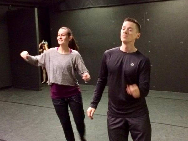 """Rehearsals for """"On the Eve"""" at the Howe Theatre in December"""