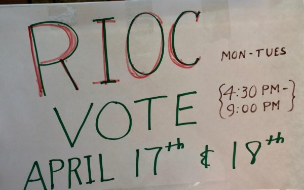 Although RIOC Distanced Itself from the Common Council's Voting, Posted Signs Implied Endorsement. No mention of the Common Council which is actually behind the election.
