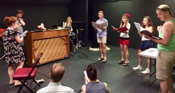 Common Man Musicals in rehearsal at Main Street Theatre & Dance Alliance
