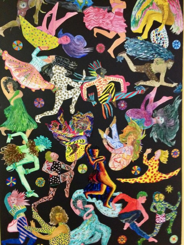 Collaborative artwork by older artists on view at CBN/RI Senior Center