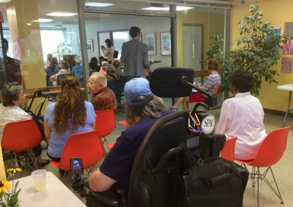 Overflow crowds of seniors attending Carter Burden Network's First Anniversary Celebration. RISA chose not to attend.