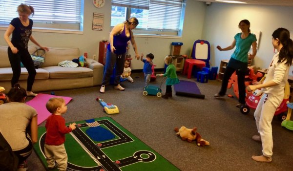 Exercise and Play Indoors After the MoM Walk