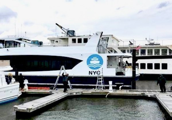 First NYC Ferry Docks at Pier 1 in Brooklyn