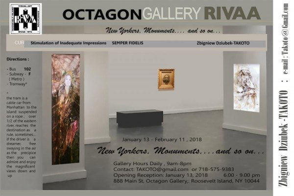 "Continuing: ""New Yorkers, Monuments...and so on at the Octagon Gallery"