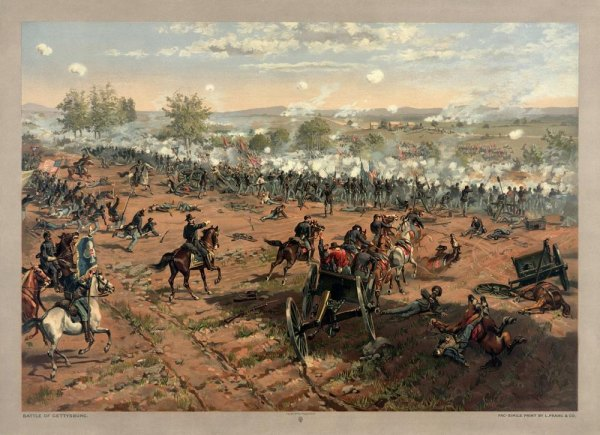 Pickett's Charge, Battle of Gettysburg, July 3, 1863
