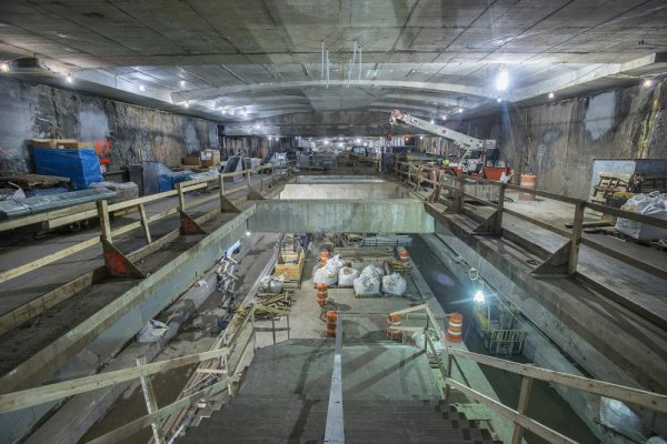 Under Construction: 96th Street Platform and Mezzanine Looking South