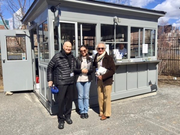 Volunteers welcomed visitors to FDR Four Freedoms Park