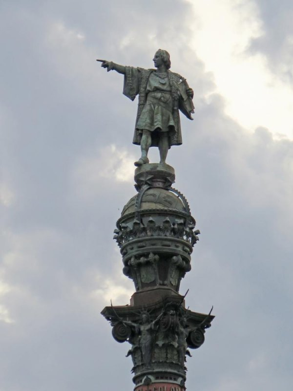 Statue of Columbus at the end of Las Ramblas in Barcelona