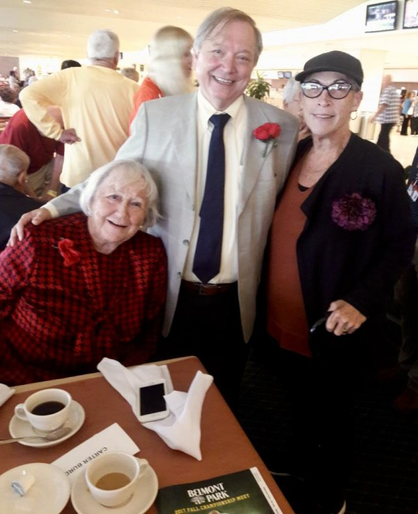 Board Member Margaret Smith joined CBN Executive Director Bill Dionne (c) and RI Senior Wendy Hersh (r) for the fun at Belmont Park.