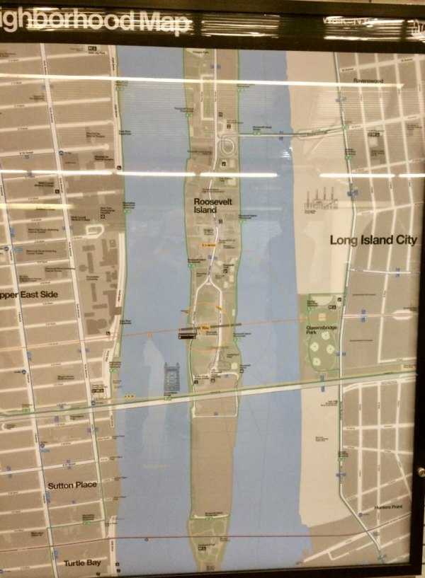 NYC Subway Roosevelt Island Locator Map