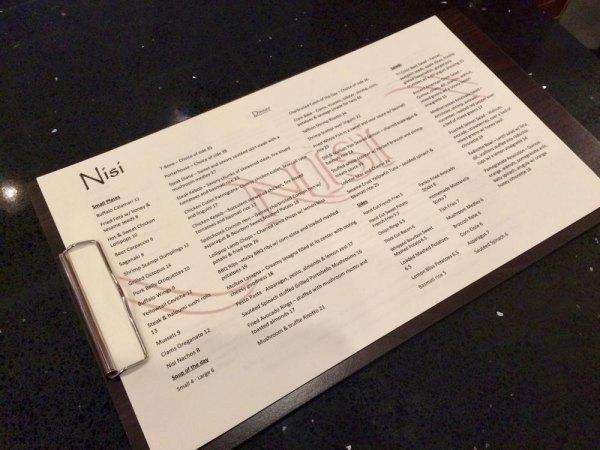 One of four menus, packed with exciting choices