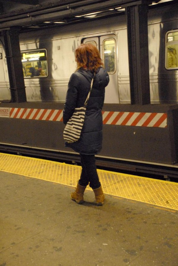 "Has commuting got you in knots? ""Subway Stripes"" by Deborah Julian"