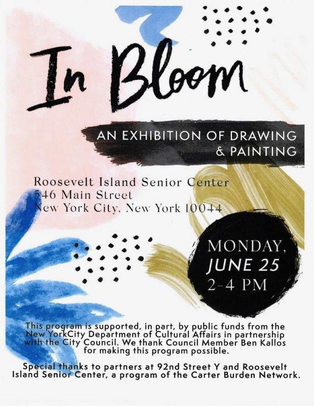 Monday, June 25th, In Bloom, Drawings & Paintings, CBN/RI Senior Center